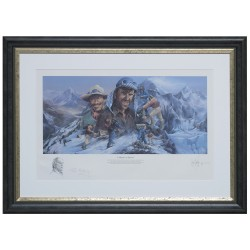 Sir Edmund Hillary authentic signed genuine print