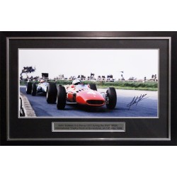 John Surtees signed genuine authentic photo display