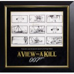 Roger Moore James Bond 007 signed genuine authentic storyboard