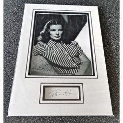 Katherine Hepburn signed authentic genuine signature autograph display