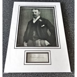 Jerome K Jerome signed genuine signature autograph display