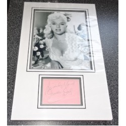 Diana Dors genuine authentic signed autograph display