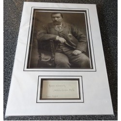 Arthur Conan Doyle Sherlock Holmes signed authentic genuine signature autograph display
