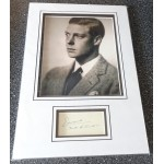 King Edward Duke of Windsor signed authentic genuine signature autograph display