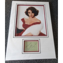 Elizabeth Taylor signed authentic genuine signature autograph display