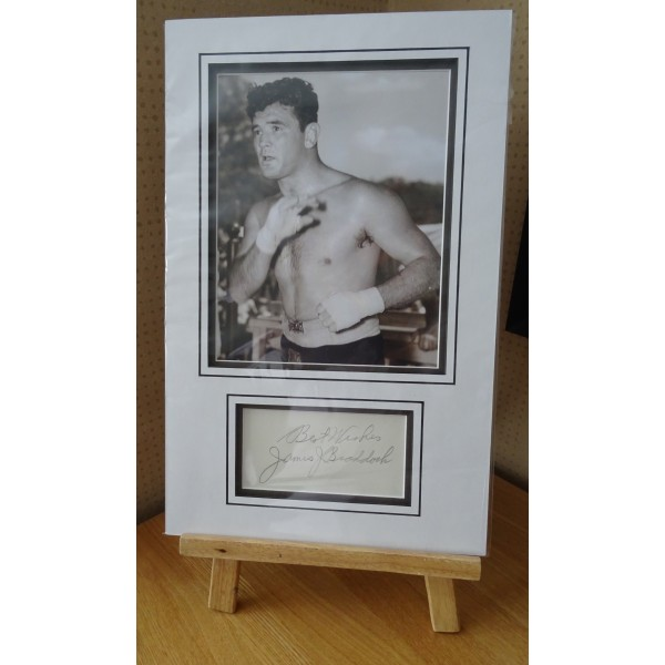 James J Braddock Boxing signed authentic genuine signature autograph display