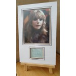 Marianne Faithfull signed authentic genuine signature autograph display