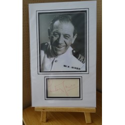 Sid James Carry On signed authentic genuine signature autograph display