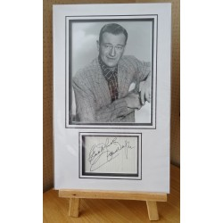John Wayne signed authentic genuine signature autograph display