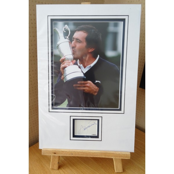Seve Ballesteros golf signed authentic genuine signature autograph display
