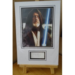 Alec Guinness Star Wars Obi signed authentic genuine signature autograph display
