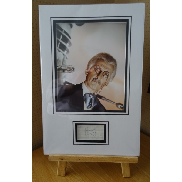 Peter Cushing Dr Who Horror signed authentic genuine signature autograph display