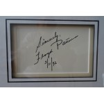 Floyd Patterson signed authentic genuine signature autograph display