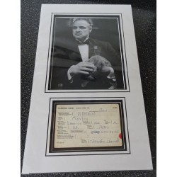 Marlon Brando Godfather authentic signed genuine autograph