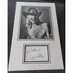 Johnny Winter authentic signed genuine autograph photo display
