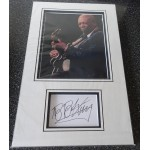 B B King authentic signed genuine autograph photo display