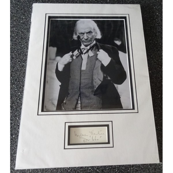 William Hartnell Doctor Who authentic signed genuine autograph photo display