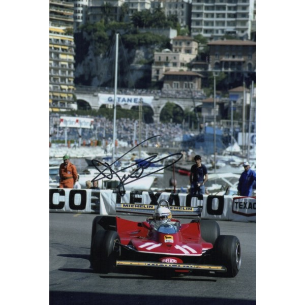 Jody Scheckter Ferrari F1 authentic signed genuine autograph photo 2