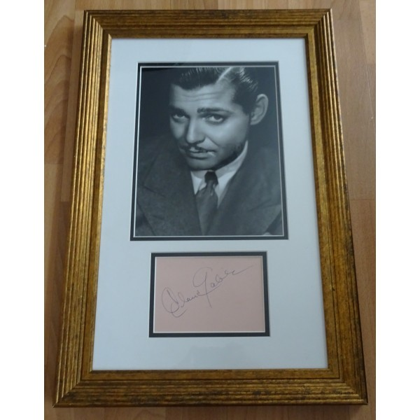 Clark Gable Gone With the Wind authentic signed genuine autograph photo display