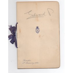 Edward Prince of Wales genuine signed autograph menu