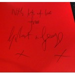 Gilbert and George authentic signed genuine autograph book