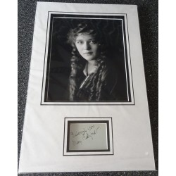 Mary Pickford authentic signed genuine autograph photo display