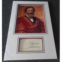 Sir Frederic Leighton authentic signed genuine autograph photo display