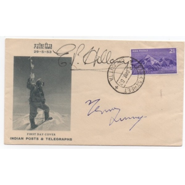 SOLD Edmund Hillary Tensing Everest authentic genuine signed cover