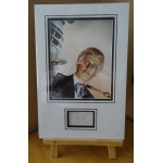 SOLD Peter Cushing Dr Who Horror signed authentic genuine signature autograph display