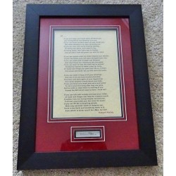 Rudyard Kipling 'if' authentic signed genuine signature poem display