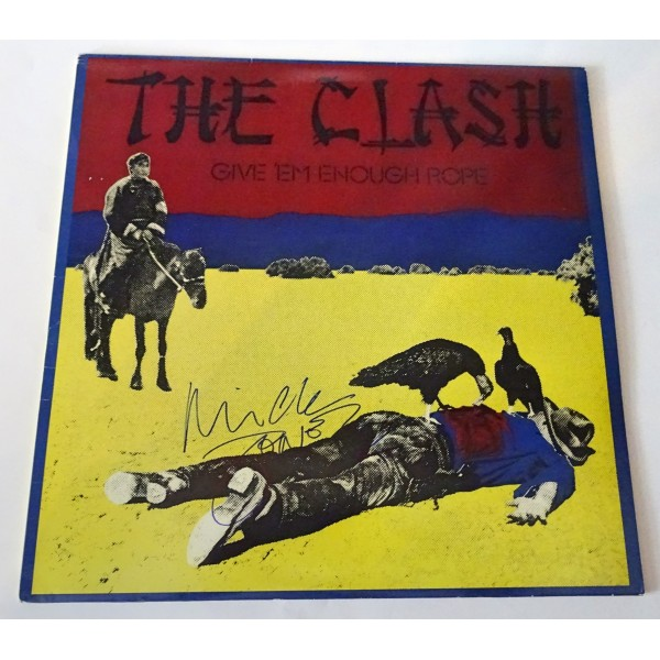 The Clash Mick Jones authentic genuine signature vinyl album cover