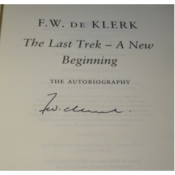 F W De Klerk genuine autograph authentic signed book