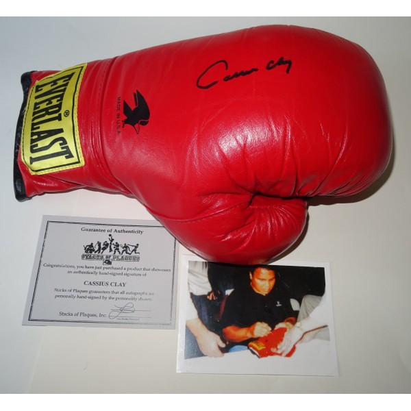 Muhammad Ali Cassius Clay authentic genuine signature signed boxing glove