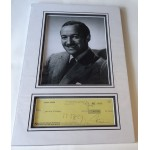 David Niven authentic genuine signature signed cheque display photo