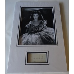 Vivien Leigh authentic genuine signature signed autograph display photo