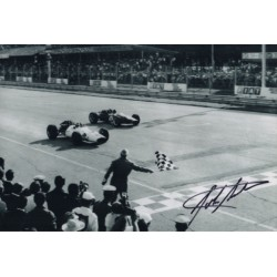 John Surtees F1 Honda signature genuine signed authentic photograph