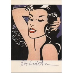 Roy Lichtenstein genuine authentic signed postcard image