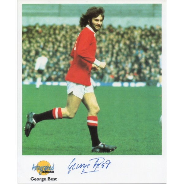 George Best football genuine authentic autograph signed image