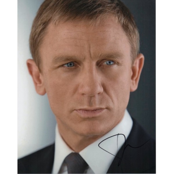 Daniel Craig James Bond genuine authentic signed autograph photo