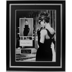 Audrey Hepburn authentic signed genuine signature photo display