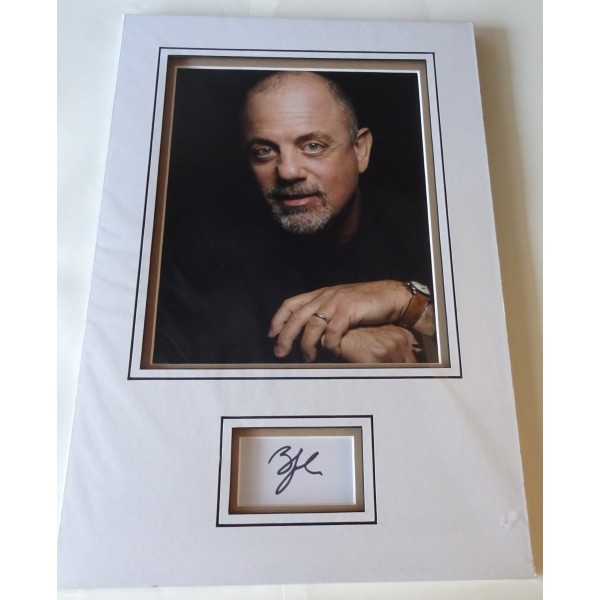Billy Joel authentic genuine signature signed autograph display photo