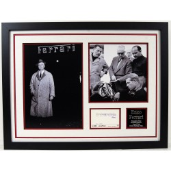 Enzo Ferrari authentic signed genuine signature photo display