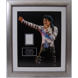 Michael Jackson authentic signed genuine signature photo display