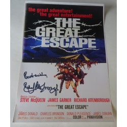 Richard Attenborough authentic genuine signature signed poster image 'Great Escape'