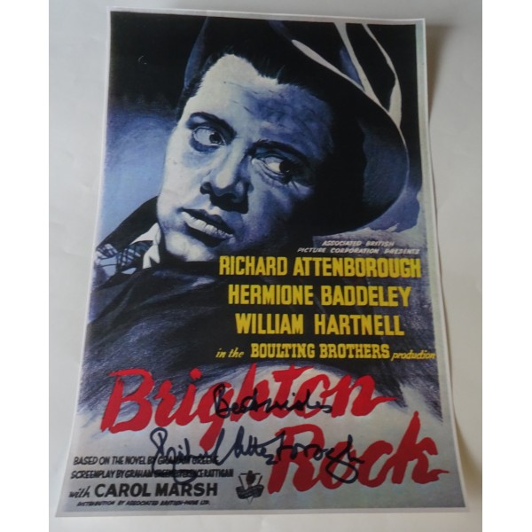 Richard Attenborough authentic genuine signature signed poster image Brighton Rock