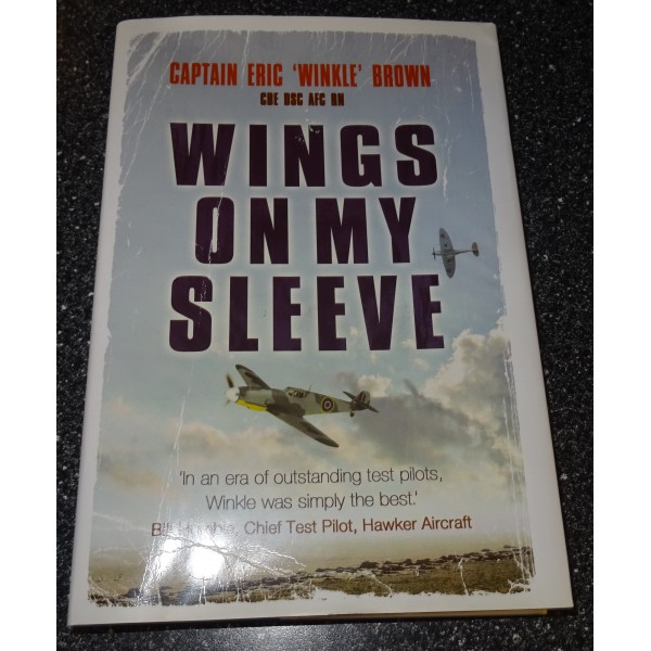 Eric 'Winkle' Brown test pilot genuine authentic signed autograph book