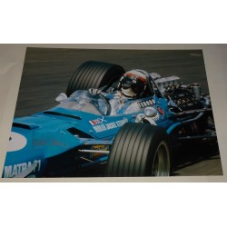 Jackie Stewart F1 Matra genuine signed authentic signature photo