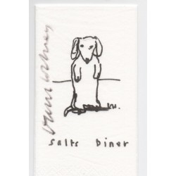 David Hockney signed genuine authentic autograph napkin
