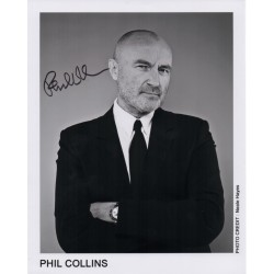 Phil Collins signed genuine signature autograph photo