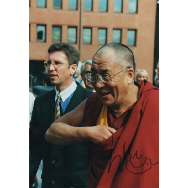 Dalai Lama genuine authentic signed autograph image